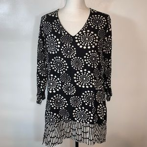 soft surroundings black tunic top size s/m